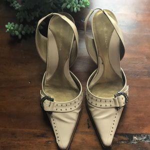 BCBG maxazria cream shoes preowned size 7.5